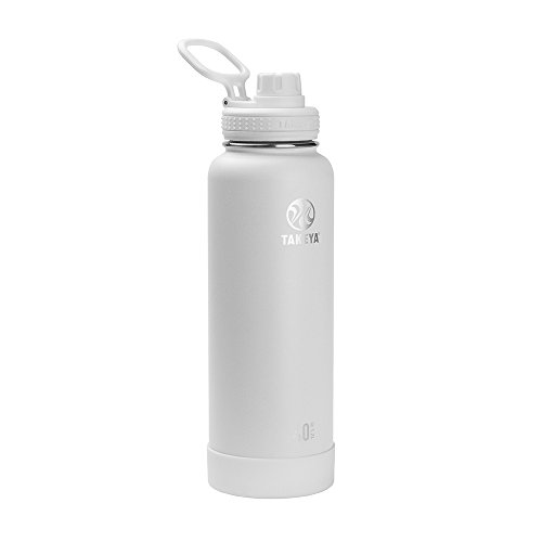 Takeya 51002 Actives Insulated Stainless Steel Water Bottle with Spout Lid, 40 oz, Arctic