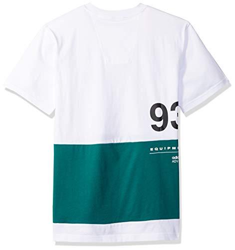 con T uomo Originals shirt da Eqt Adidas bianca grafica L 55r6wqaP