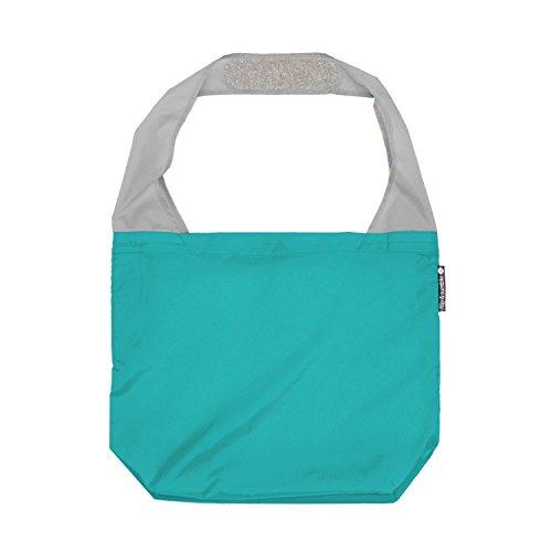 FLIP AND TUMBLE - Premium Reusable Grocery Bag - perfect Shopping Bag, Beach Bag, Travel Bag, Teal