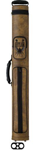 OUTLAW 2-Butt and 2-Shaft Vinyl Pool Cue Case with Horseshoe Design ()