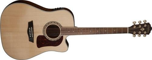 Washburn 6 String Acoustic-Electric Guitar, Natural Gloss (HD30SCE-O)