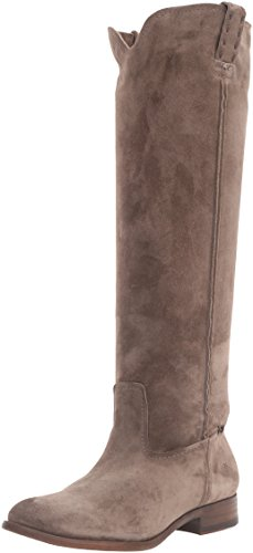 FRYE Womens Cara Tall Suede Slouch Boot Elephant