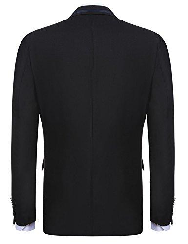 Pour À Longues H Bouton Blazer Teaio Manches Noir Unique Costume Vestes De aFY67wq