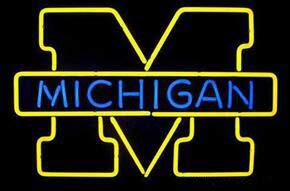 Neon princess Factory 17x12 inches Michigan Wolverings Traditional Handmede Real Glass Tube Neon Light Home Beer Bar Pub Recreation Room Game Lights Windows Glass Wall Signs