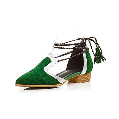 LvYuan sandalias de fiesta de los zapatos del club de cuero primavera verano&noche tacón bajo informal Black