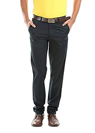 STING Black Slim Fit Trousers Pant For Men