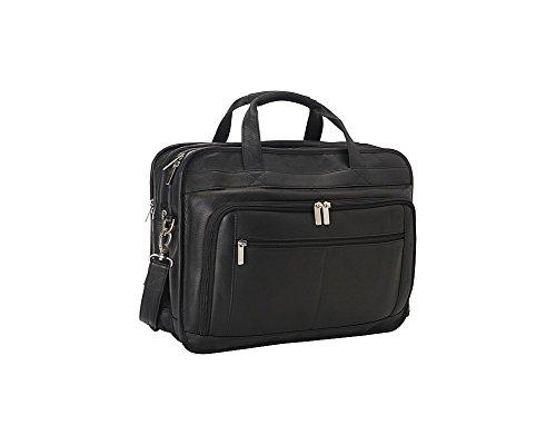 (Le Donne Leather TR-1012-BL Oversized Laptop Brief, Black)