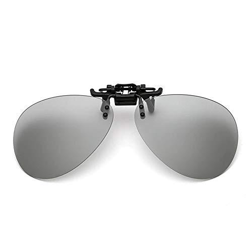 UV de Cambio Resistentes de polarizado conducción de fotosensibles Color de Sol Rayos de KOMNY Clip Dual Gafas Gafas B de Colores y Noche Sol los día B Uso a de BxUSnqE