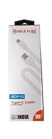 Mobile Plug Type   C Cable 1Mtr  Metal