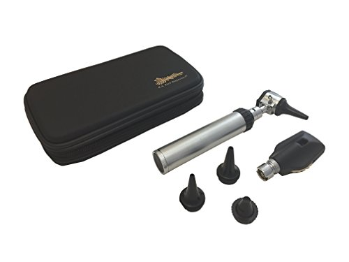 - RA Bock 3.2V Bright White LED Otoscope Set with Accessories - The Perfect Tool for Medical School! (Tortoise Shell Case)