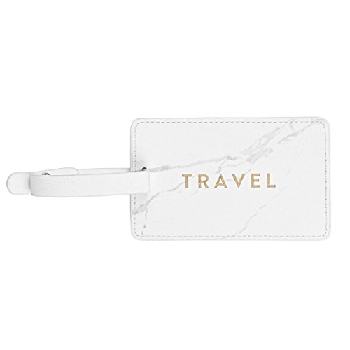 Chic Luggage Tags - Leminimo Leather Luggage Tag Bag Tag - Marble Luggage Tag
