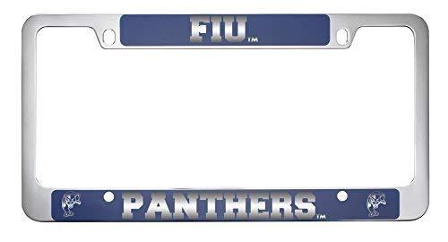 Florida International University-Metal License Plate Frame-Blue