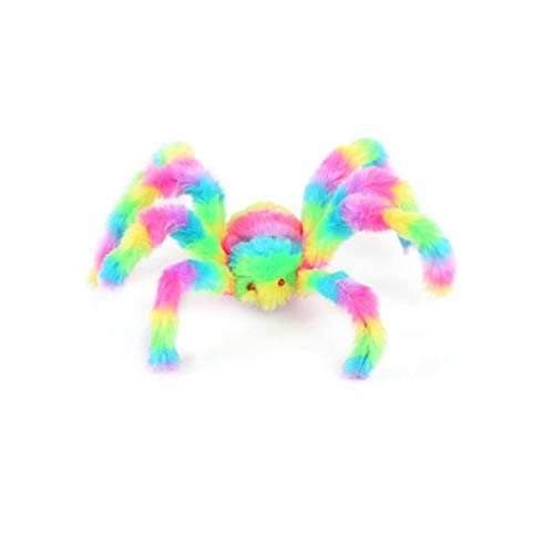 Cinhent Toys, Novelty Small Lifelike Hairy Spider Halloween Decor Party Interesting Tricky Decoration, Haunted House Prop Indoor Outdoor Kids Adults Game Plush Gifts (50 cm)