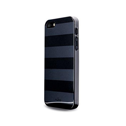 Puro IPC5STRIPEBLK Stripe iPhone 5 Slutgrey/Black