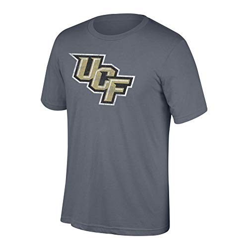 (Top of the World NCAA Men's Central Florida Golden Knights Heritage Tri-blend Tee Graphite Heather Large)