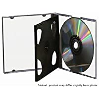 10 STANDARD Black Triple 3 Disc CD Jewel Case by mediaxpo
