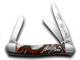 CASE XX Genuine Man In Black Corelon 1/500 Stockman Pocket Knife Knives