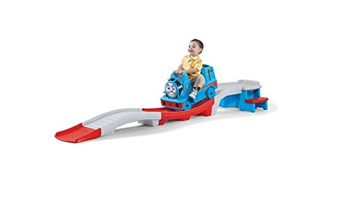 step2-thomas-the-tank-engine-up-and-down-roller-coaster-for-kids-durable-ride-on-car-toy-with-high-s