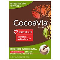 (CocoaVia Daily Cocoa Extract Supplement Unsweetened Dark Chocolate )