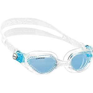 Cressi Adult Swimming Goggles with Flat Lenses for Natural Vision | Right Made in Italy