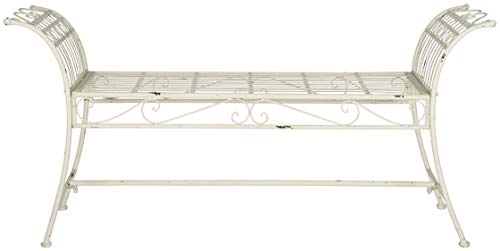 Safavieh Outdoor Collection Hadley Antique White Bench