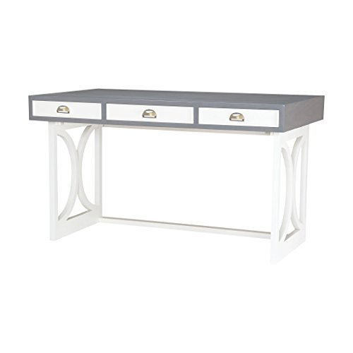 Dimond Home 7011-142 Three Drawer Mahogany Writing Desk, Antique Smoke/Cappuccino Foam Finish, 30
