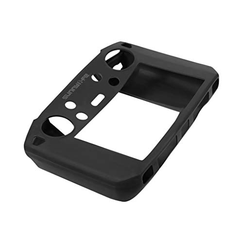 Fullfun Silicone Protective Cover Case dust-Proof Skin Guard for DJI Mavic 2 Drone Remote Controller Accessories (Black, Without - Bulb Parasol