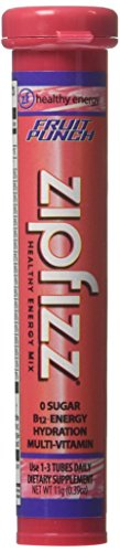 Zipfizz Fruit Punch Flavored Drink Packets, 20 Count by Zipfizz