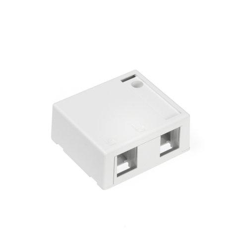 (LEV410892WP - LEVITON 41089-2WP QuickPortreg; 2-Port Surface Mount Housing (White) )