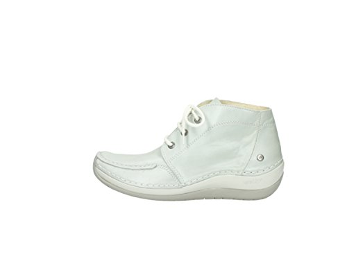 Wolky Olympia Lace Offwhite up Boots 80120 Comfort Leather rqICr