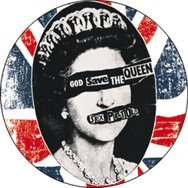 Sex Pistols - God Save the Queen on Distressed British Flag (UK, Union Jack) - 1