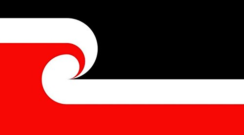 New Zealand Maori Flag 5ft x 3ft Large - 100% Polyester - Me
