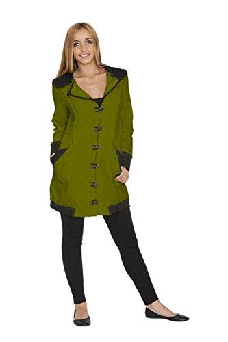 Buddha chic Green Mujer Chaqueta Verde Chotana Neon Para Rqw6BxHZ77