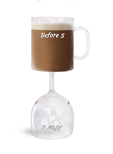 BigMouth Inc. Before & After 5 Coffee & Wine Glass
