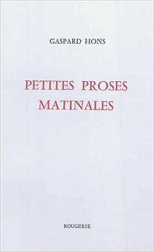 Livre Petites proses matinales pdf