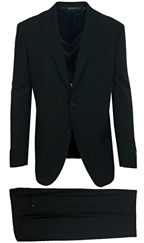Jack Victor Big & Tall Gibson Regular Fit Black Shadow Stripe Suit - Jack Victor Stripe Suit