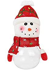 AVBXAWGU Christmas Candy Jar Storage Bottle Snowman Santa Bag Sweet Christmas Candy Can Boxes Child Kids Gifts New Year Christmassnowman