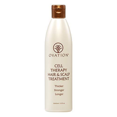 Ovation Cell Therapy Hair & Scalp Treatment - Get Thicker, Stronger, Longer - Healthier Hair with Natural Ingredients - Clinically Proven to Reduce Hair Breakage - For All Hair Types