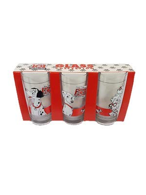 Brand New Packaged Official Walt Disney 101 Dalmatians 3 Drinking Glass (6) Unknown