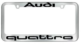 Amazoncom Audi Quattro License Plate Frame Automotive - Audi license plate frame