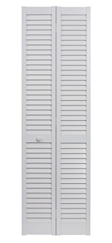 LTL Home Products SEALL30 Seabrooke PVC Louvered Interior Bifold Door, 78.625