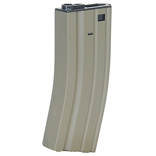 M4 / M16 - 300 Round Airsoft Hi-Cap Magazine Clip AEG Electric Rifles - METAL - TAN ()