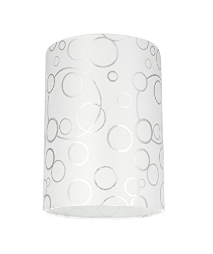 Aspen Creative 31114 Transitional Hardback Drum (Cylinder) Shaped Spider Construction Lamp Shade in White, 8 wide (8 x 8 x 11)
