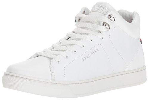 Skechers Vrouwen Prima-leren Veters Mode Sneaker Wit