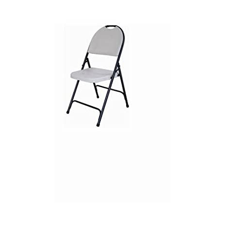 Amazon.com : Gsc Technologies CHR 001P Deluxe Folding Chair, Hi Back, White    Quantity 1 : Folding Chairs Indoor : Sports U0026 Outdoors