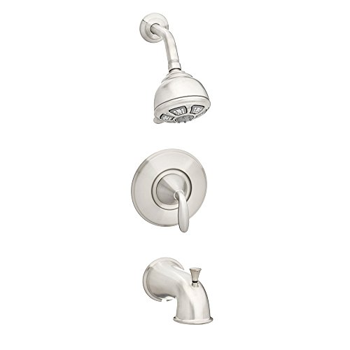 Faucet One Handle Valves - Pfister 8P8WS1PDKK Pasadena 1-Handle Tub and Shower Faucet Set With Valve and Cartidge in Brushed Nickel