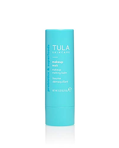 TULA Probiotic Skin Care Makeup Melt Makeup Removing Balm | Travel-Friendly, Dissolves Stubborn Makeup and Softens Skin | 0.32 oz