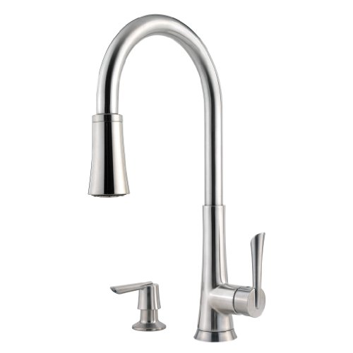 pfister-mystique-1-handle-1-2-3-or-4-hole-pull-down-kitchen-faucet-w-soap-dispenser-in-stainless-ste