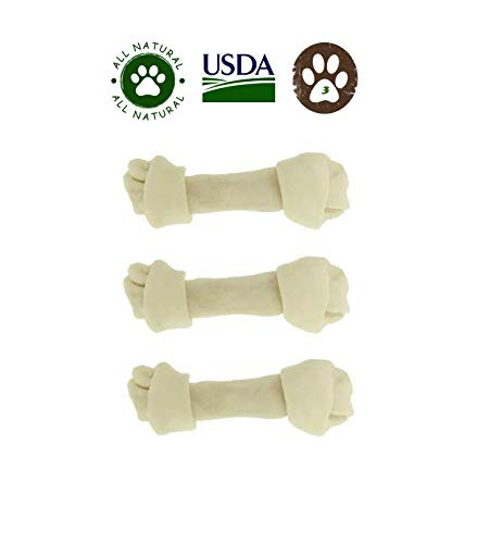 Dog Rawhide Bones Pack of 3. Large 8