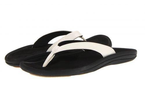 Olukai(オルカイ) レディース 女性用 シューズ 靴 サンダル Kulapa Kai W - White/Black [並行輸入品]